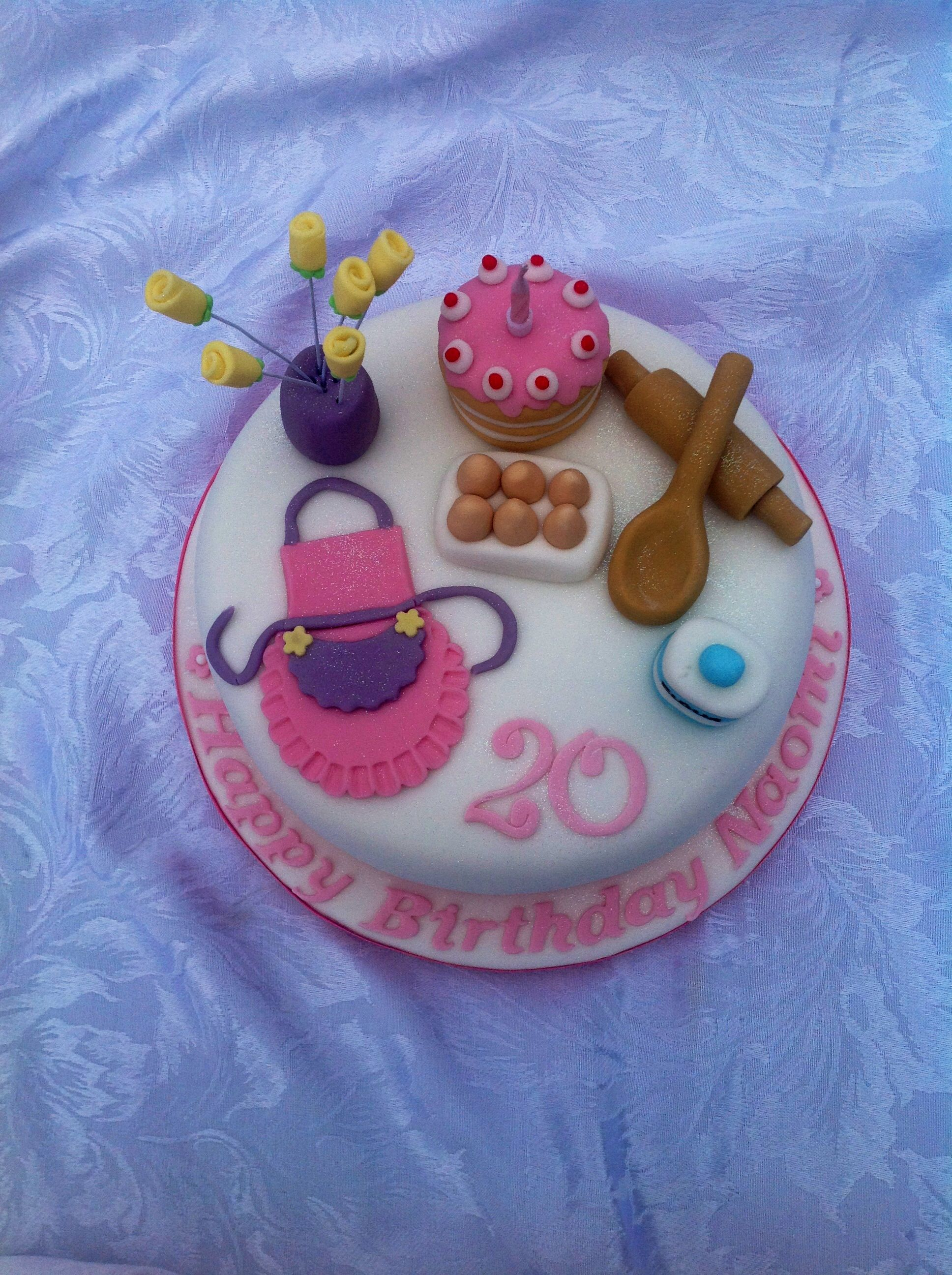 Magnificent 8 Baking Themed Cake With Images Fondant Cake Designs Themed Personalised Birthday Cards Vishlily Jamesorg