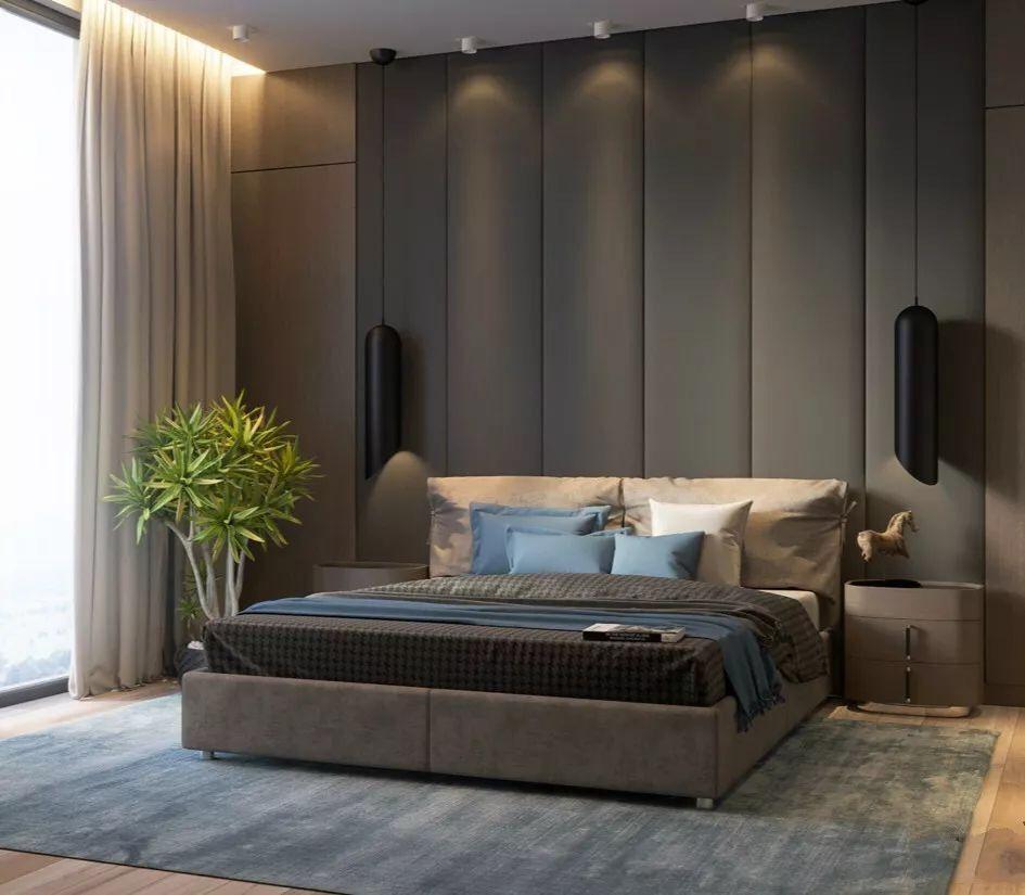 Pin By Vineet Sundrani On Guests Room Gray Bedroom Walls Modern Bedroom Grey Room Decor Gray bedroom curtains ideas