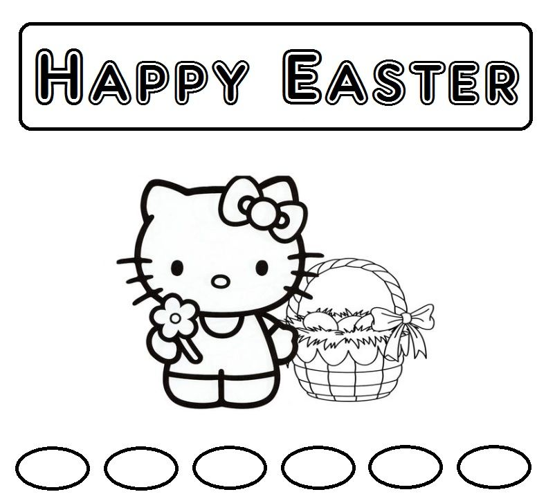 Pin by Easter/ Spring on Coloring Easter | Hello kitty ...