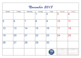 Pin By Printable Free On November  Calendar