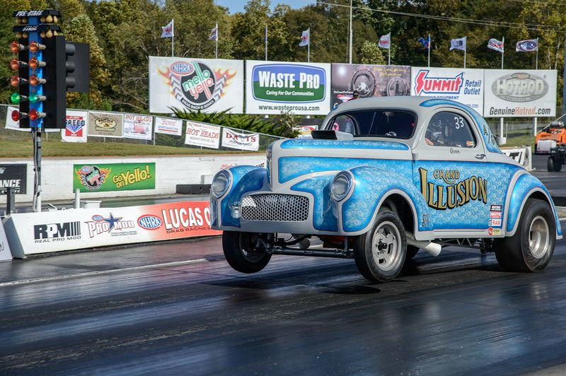 Quain Stott Grand Illusion 1941 Willys Coupe Southeast Gassers