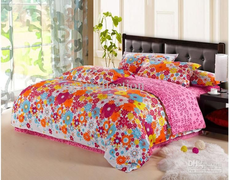 Wholesale Cover Set - Buy Colorful Floral Bedding Sets Duvet Doona ... : colorful quilt sets - Adamdwight.com