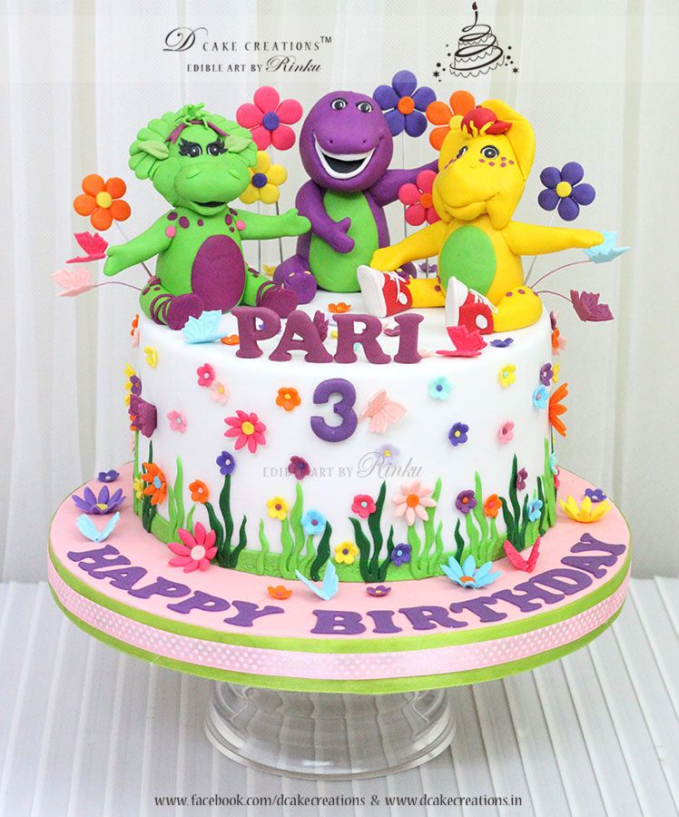Barney And Friends Theme Cake Birthday