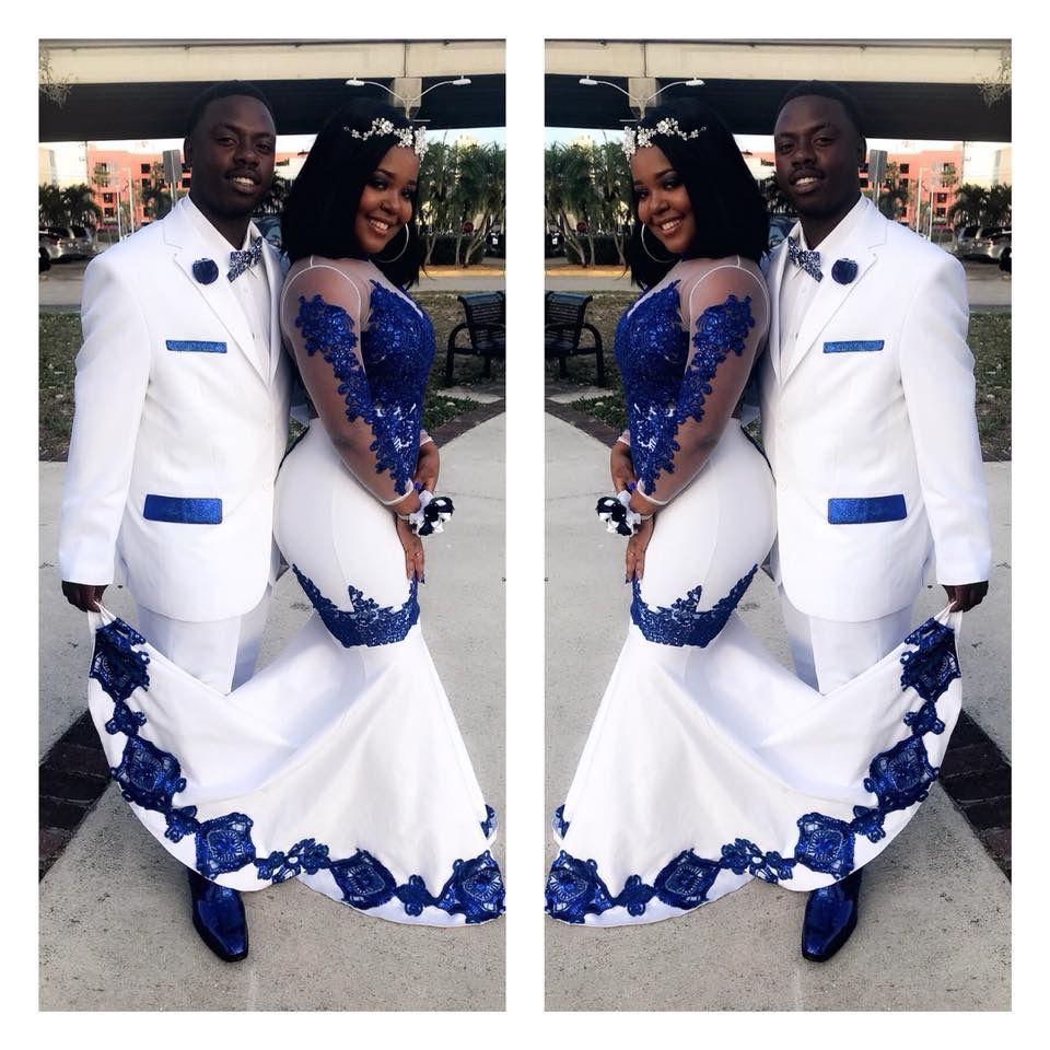 Blackboyjoy Blackgirlmagic Prom2018 Prom2k18 Sewin Blueandwhitepromdress African Print Wedding Dress African Prom Dresses African Wedding Attire