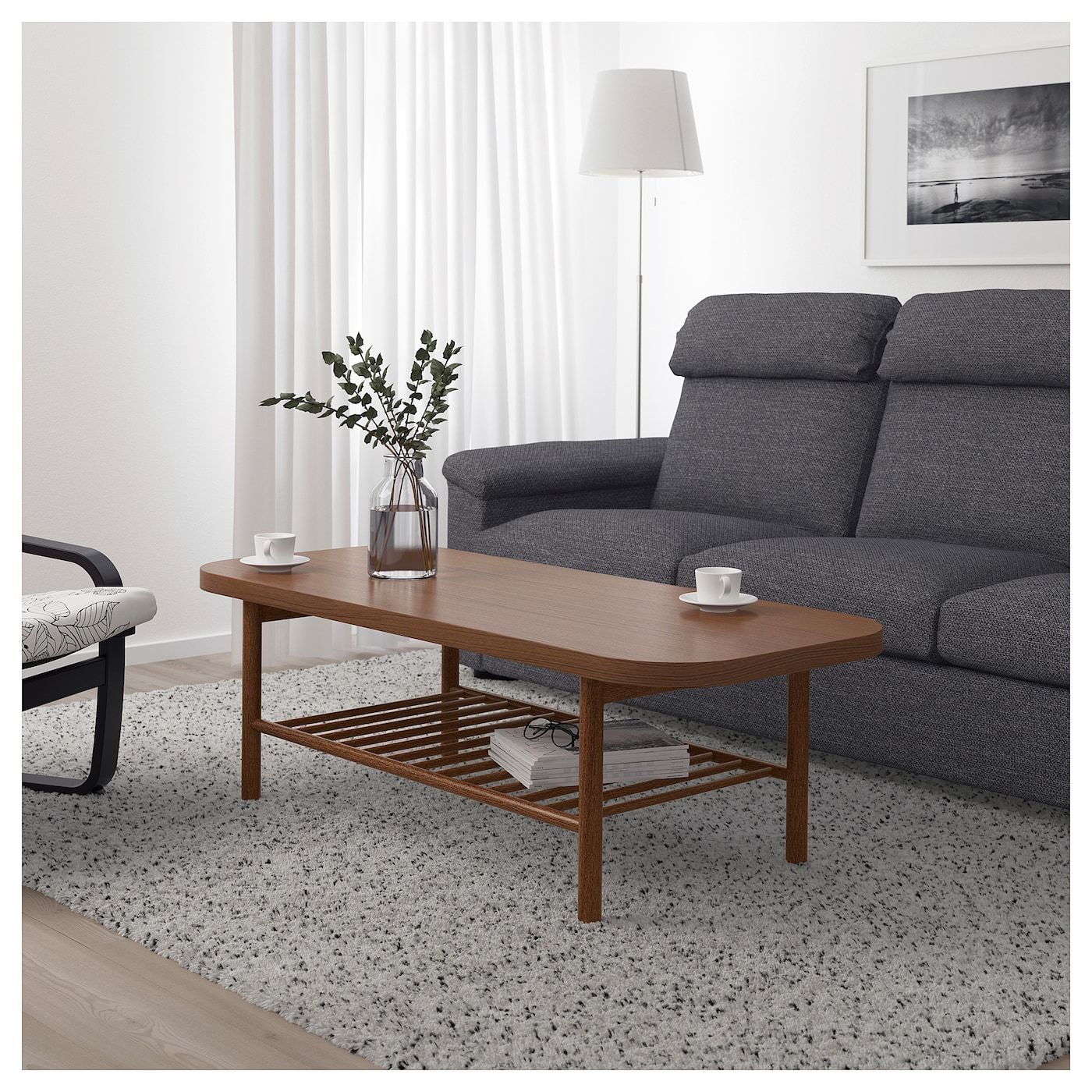 IKEA LISTERBY Brown Coffee table Wooden coffee table
