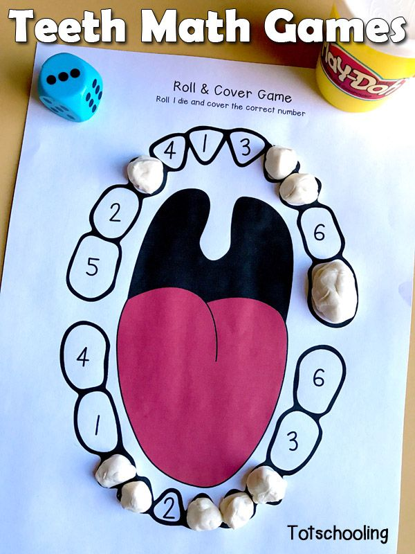 Teeth Number Games for Preschool | Counting activities ...