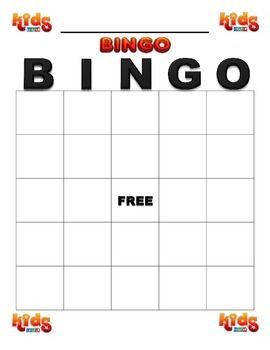 Here Is A Blank Bingo Game Template You Can Add Your Own Letters