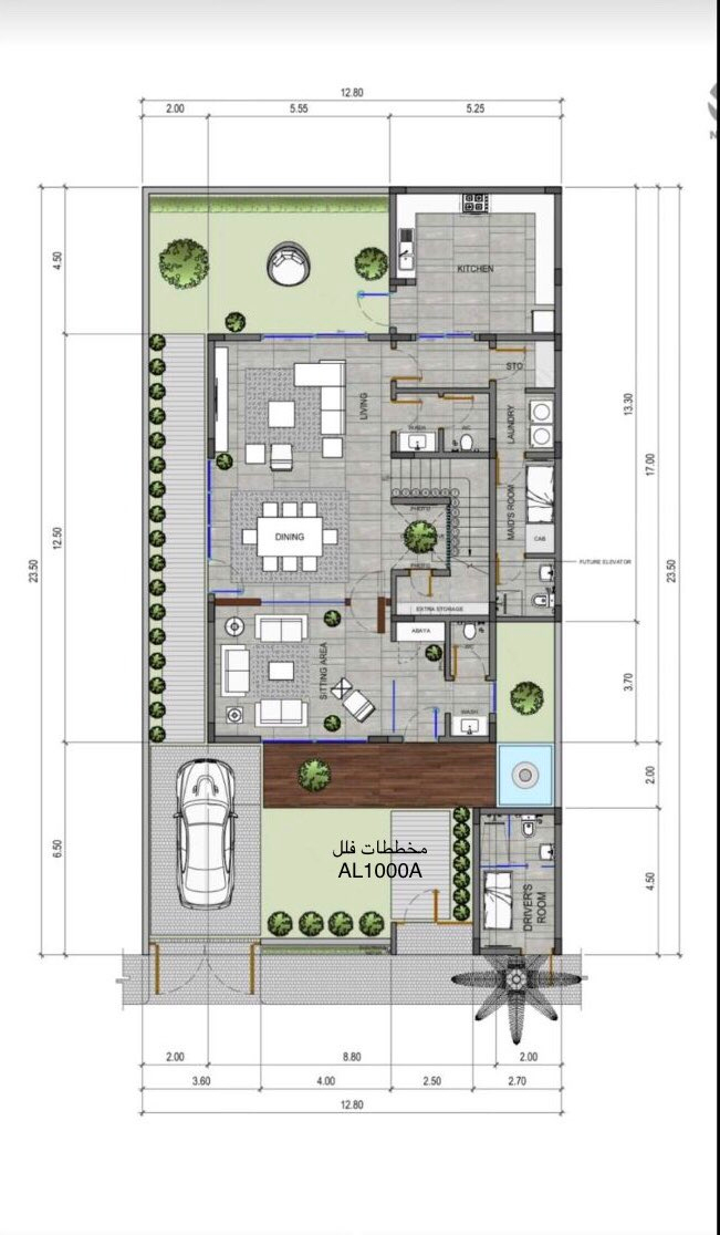 مخططات فلل Al1000a تويتر Building Plans House Modern House Floor Plans Model House Plan