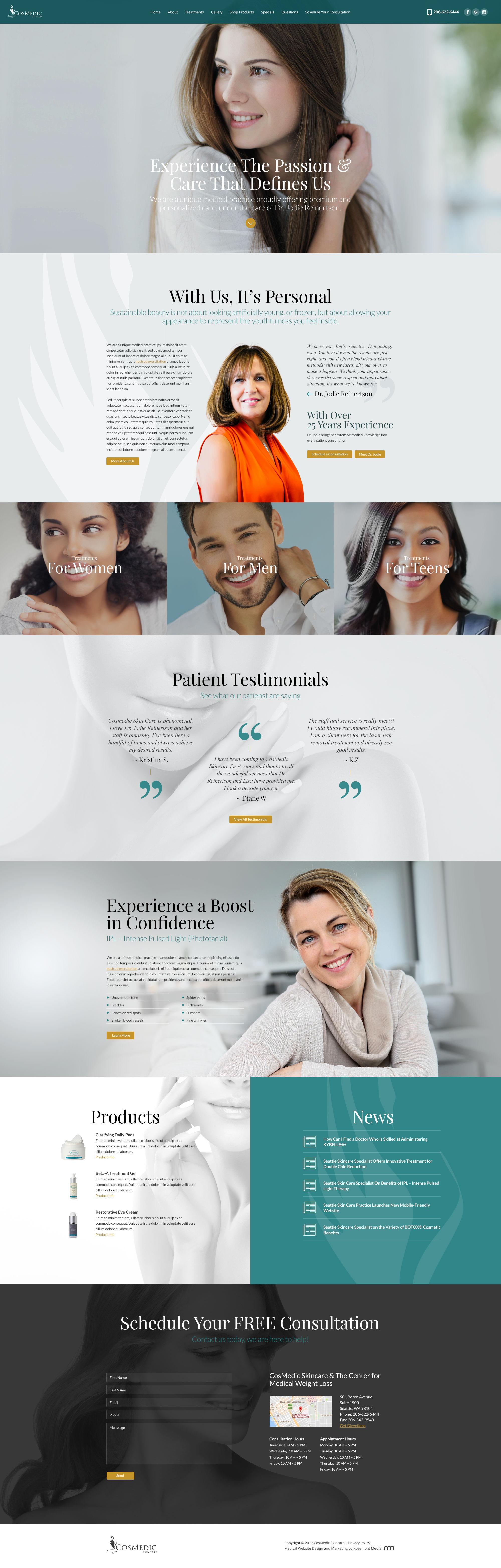 Custom Responsive Cosmetic Surgery Website Design Website Design Cosmetic Surgery Web Design