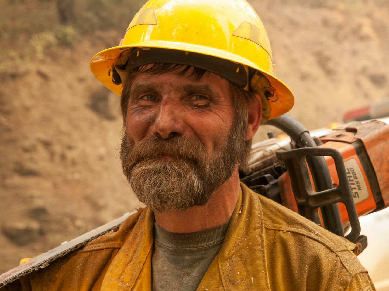 A feller — a firefighter whose particular expertise is