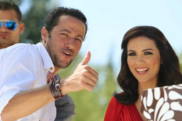 Waleed Nassif Shayma Hilali Celebrities Thumbs Up