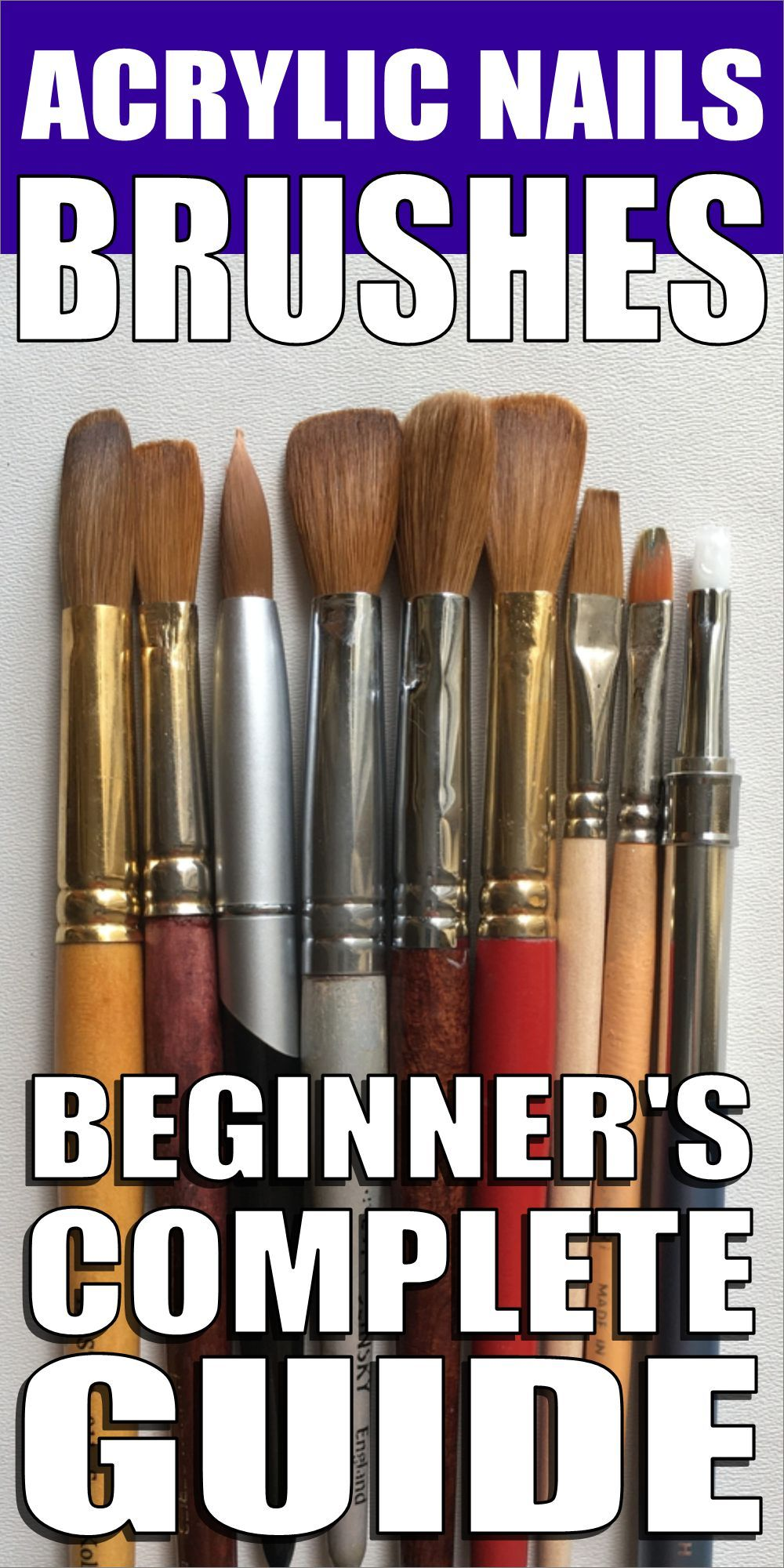 Acrylic nail brushes the beginners complete guide in