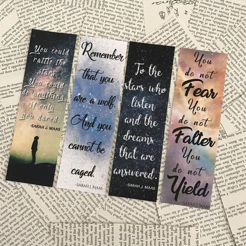 A Court Of Mist And Fury Bookmarks Sarah J Maas Bookmarks Etsy