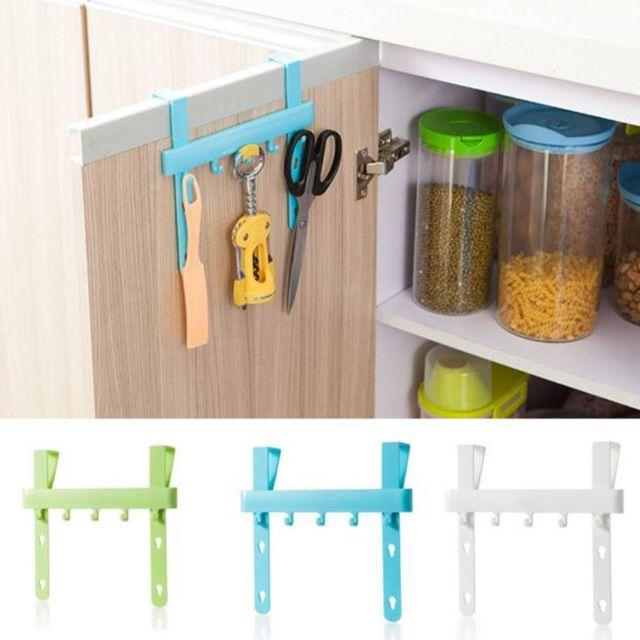 Organizer Blue Hanging Cupboard Door Over The Kitchen Cabinet Back