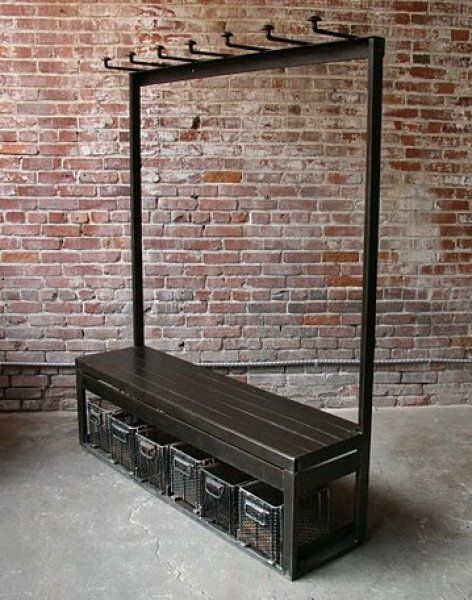 Industrial Coat Rack Bench Industrial Furniture Ideas