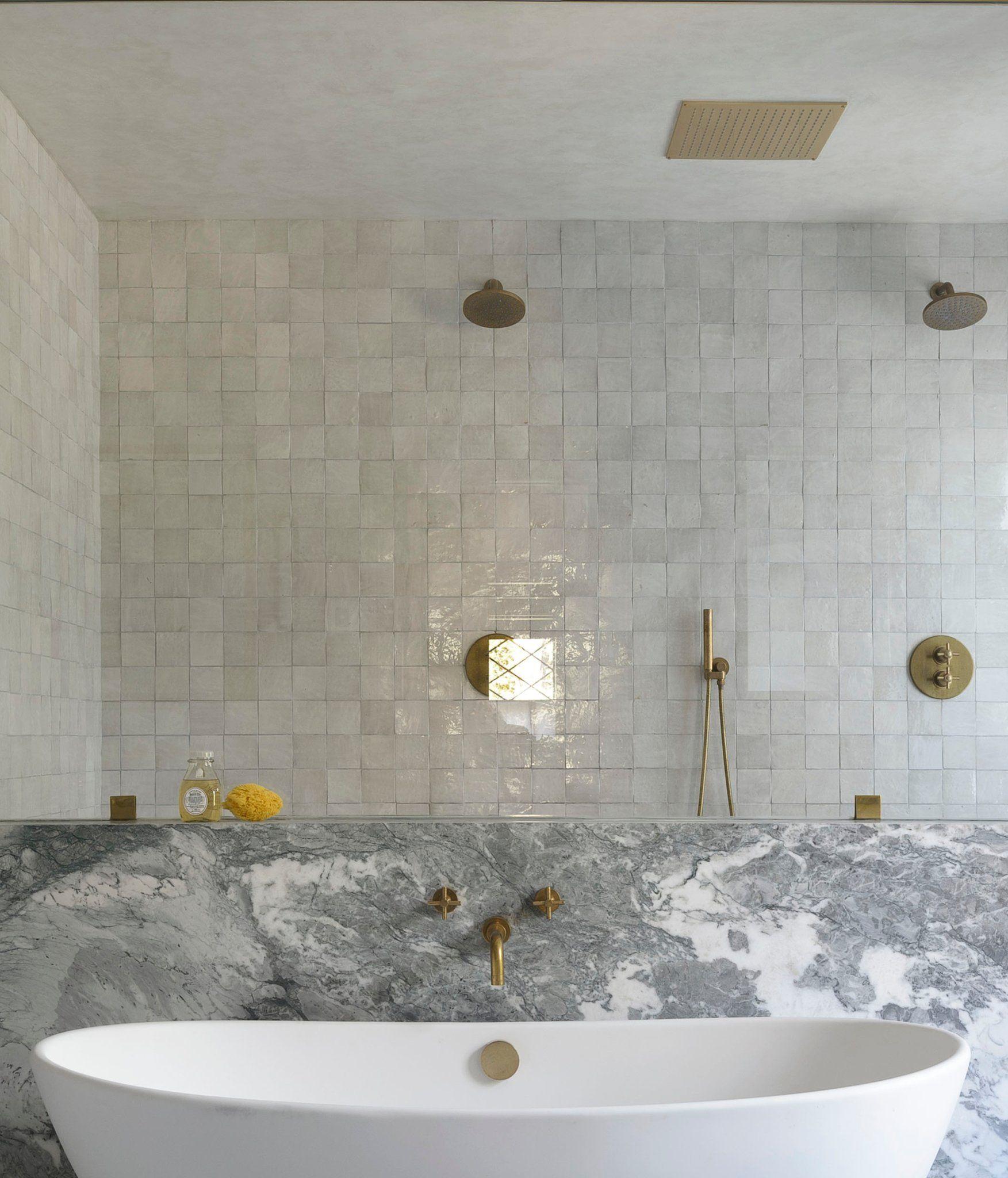 Weathered White Zellige 4 X4 X3 8 Tile Bathroom Amazing Bathrooms Bathroom Interior Design