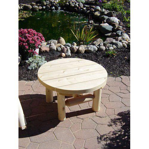 Outdoor Cedar Creek Rustic Furniture 28 In. Round Coffee