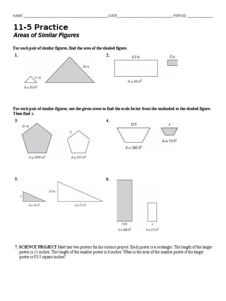 Similar Figures Worksheet Answer Key 11 5 Practice Day 1 1 Hjk Mvbhujk Shape In 2020 Worksheet Template Solving Linear Equations Word Problem Worksheets