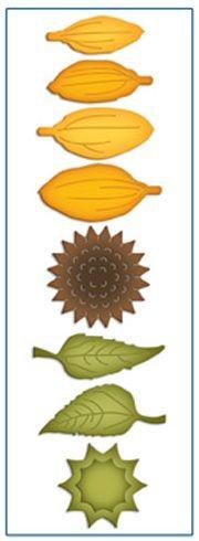 Spellbinders - Shapeabilities D-Lites dies - Create A Sunflower