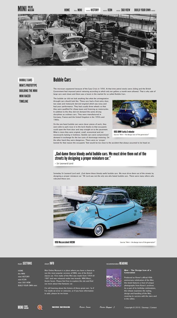 Mini Online Museum - Website by Wojtek Kotowski, via Behance