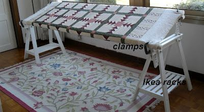celebrate hand quilting diy a inexpensive home hand quilting floor frame an - Diy Quilting Frame