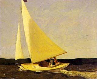 The 1913 Armory Show : Sailing, Edward Hopper. 'Sailing' fue la primera obra que vendió el autor.