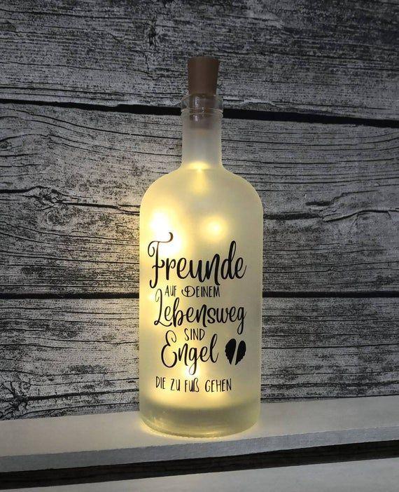 Leuchtflasche Freunde Flasche mit Licht