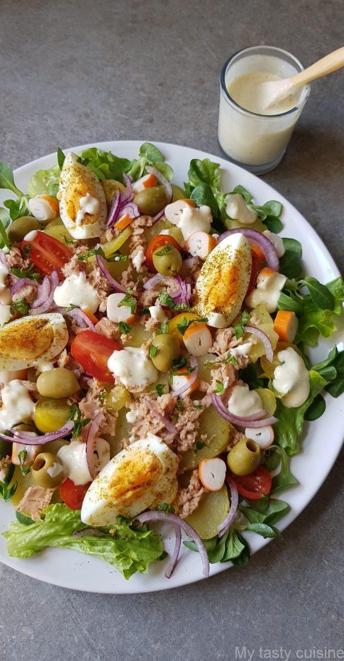 Une idée de salade composée que vous pouvez aussi bien la manger en entrée ou
