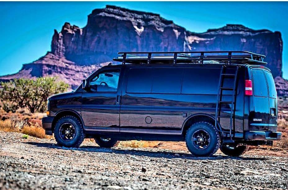 Van Solo Chevy Van Conversion Outfitted With Aluminess Gear Aluminess Roofrack Ladder Adventurevan Adventuremobi Chevy Van Gmc Vans 4x4 Camper Van