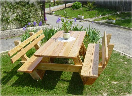Mesa Para Picnic Jardin Outdoor Picnic Tables Rustic Wood Projects Outdoor Furniture Plans