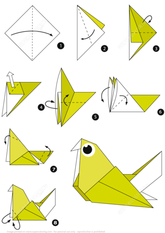 How To Make An Origami Pigeon Step By Instructions Paper Craft