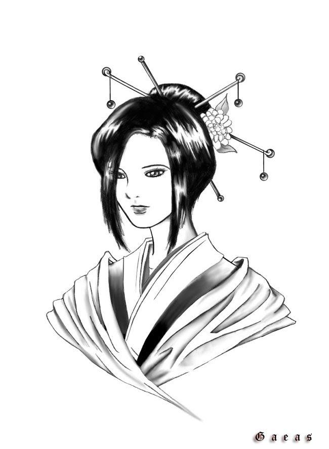 geisha tattoo Pinterest