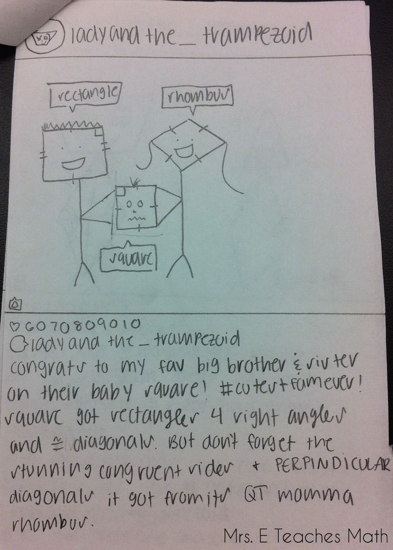 Awesome Quadrilateral Project | Geometry | Pinterest | Students ...