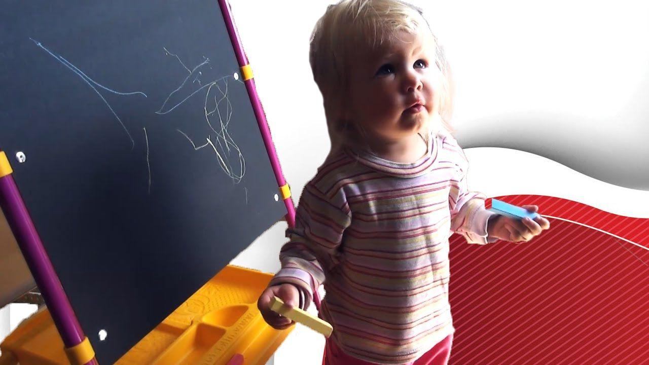 Рисуем с ребенком 1.5 года. Мольберт Nika Kinds