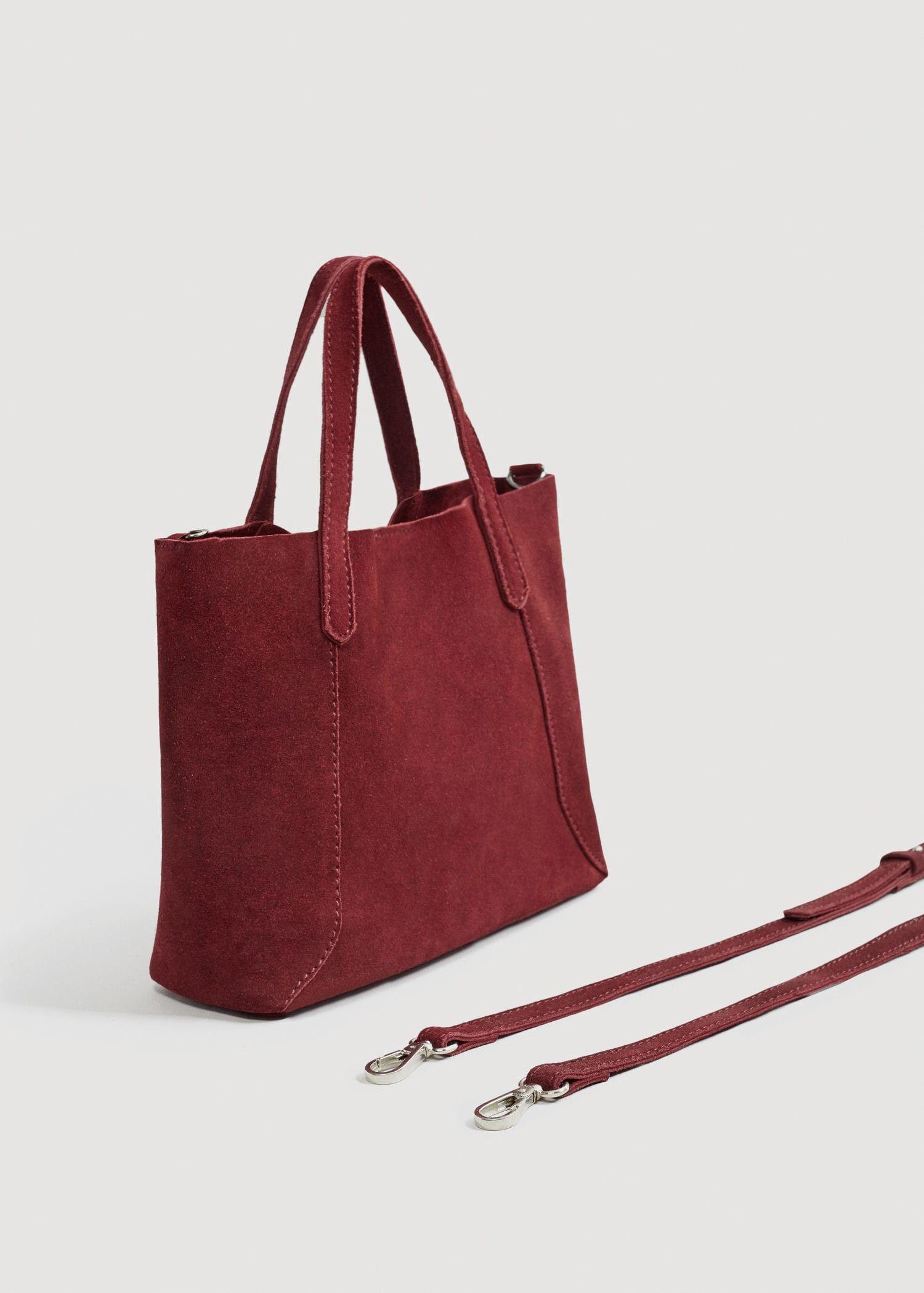 f980afcd00 Leather mini shopper bag by Mango in 2019