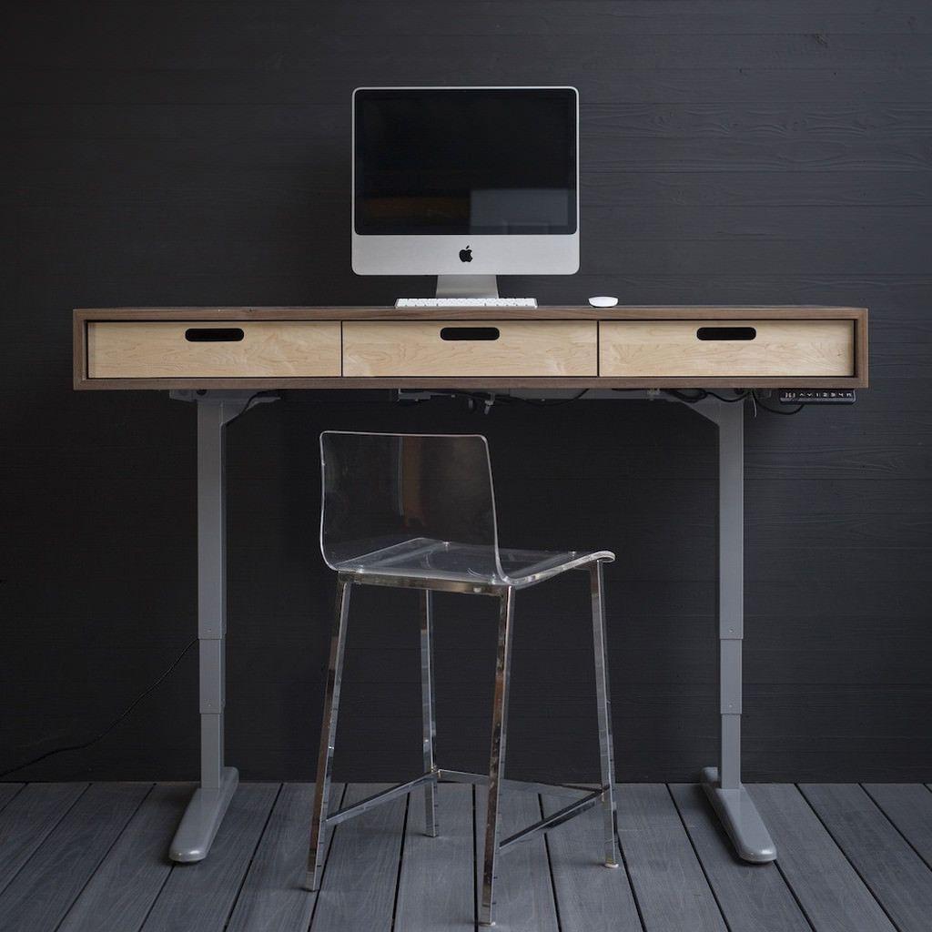 The Evolve Electric Adjustable Standing Desk Midcentury Modern