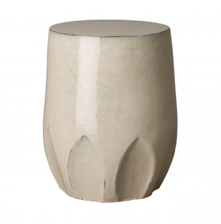 Miraculous Calyx Garden Stool Cream Glaze In 2019 Poolside Sofa Inzonedesignstudio Interior Chair Design Inzonedesignstudiocom