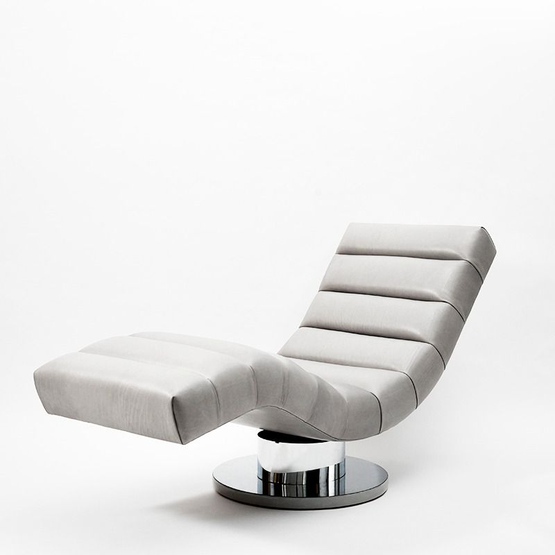 Milo Baughman, Leather Wave Chaise Longue, USA, circa