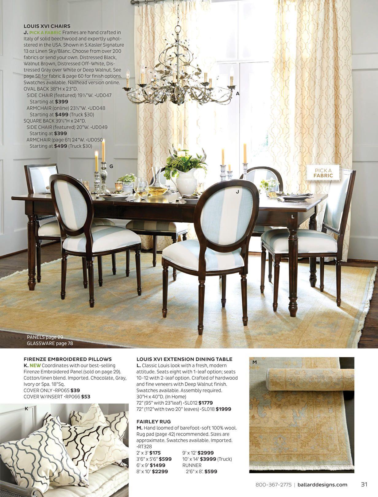 Ballard Designs Online Catalogs   Beautiful dining rooms ...