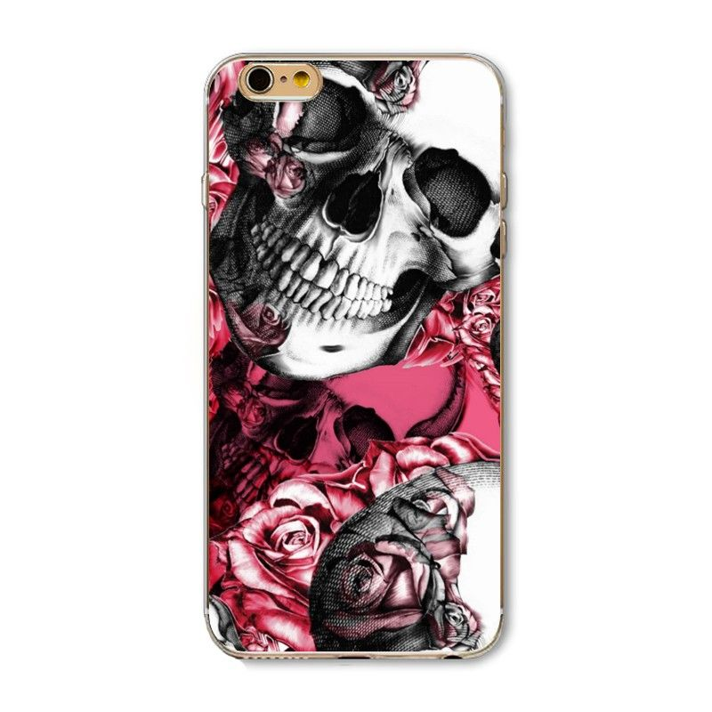Cases for iphone 5 5s SE 6 6s Plus 6Plus Soft TPU Transparent Edge Lion skull leopard russia dolls Tiger Pained Case Cover