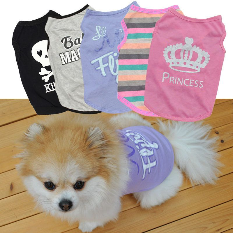 Small Pet Dog Apparel Vest Puppy Cat Coat  T-shirt Summer Fall Vest Clothes New