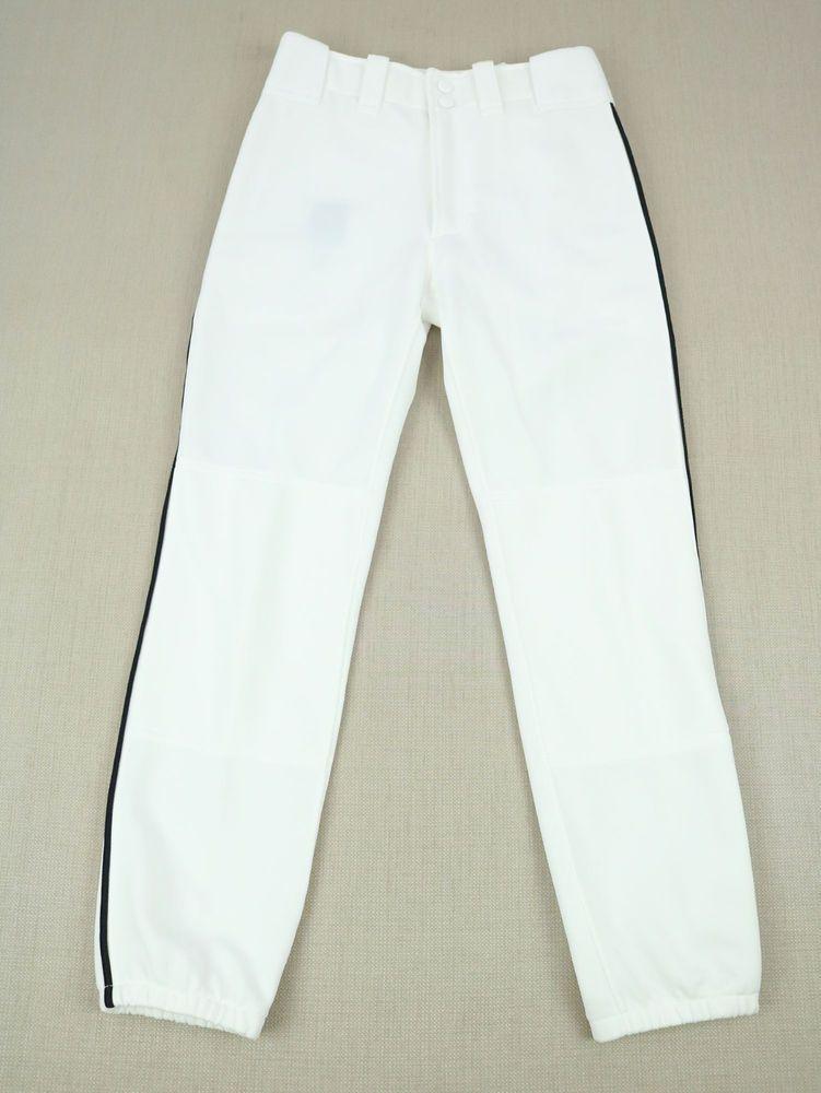 Black Baseball Pants Stripe
