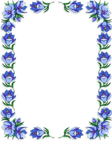 Free Flower Borders Flower Border Clipart Garden Party