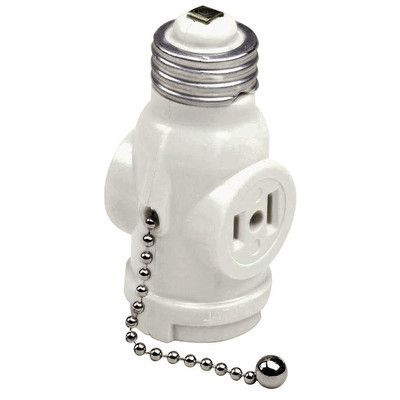 Leviton Pull Chain Socket Cool Leviton 2 Outlet Lamp Socket And Pull Chain  Lamp Socket And Products Inspiration