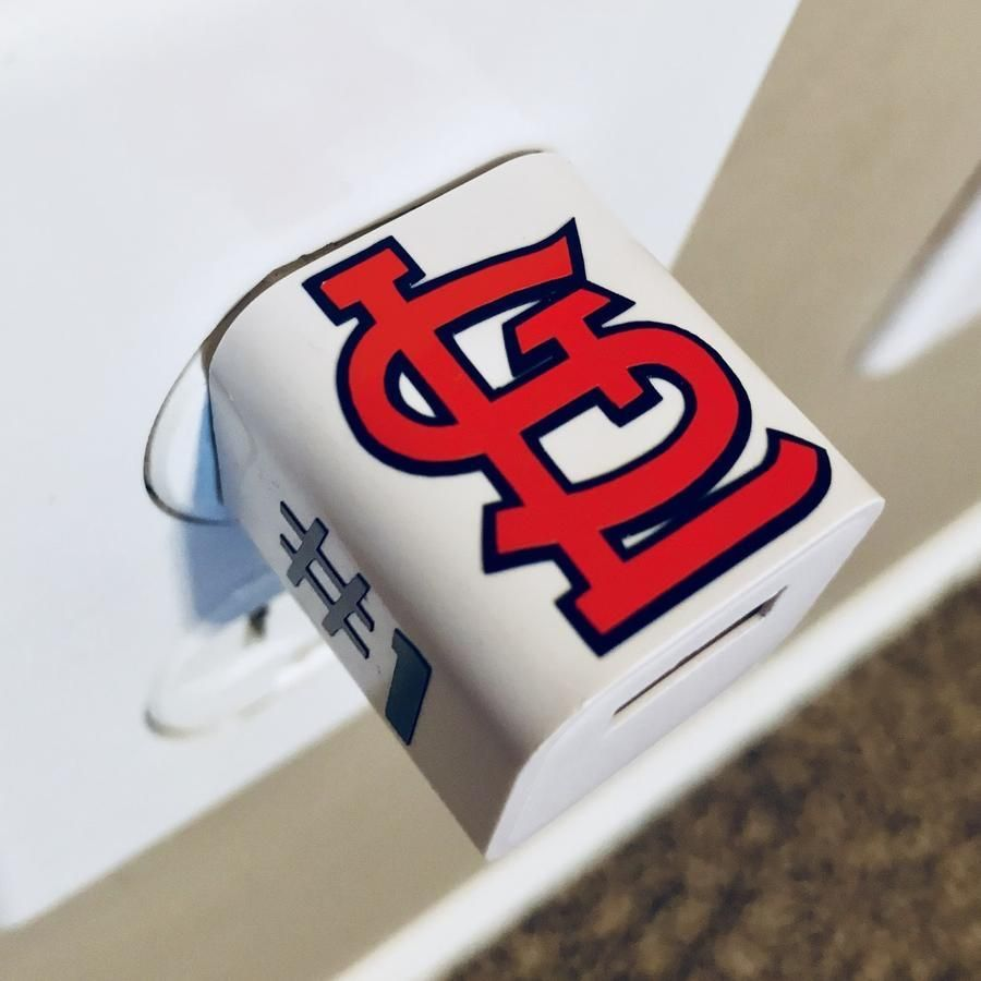 STL Cardinals Personalized USB Wall Phone Charger Usb