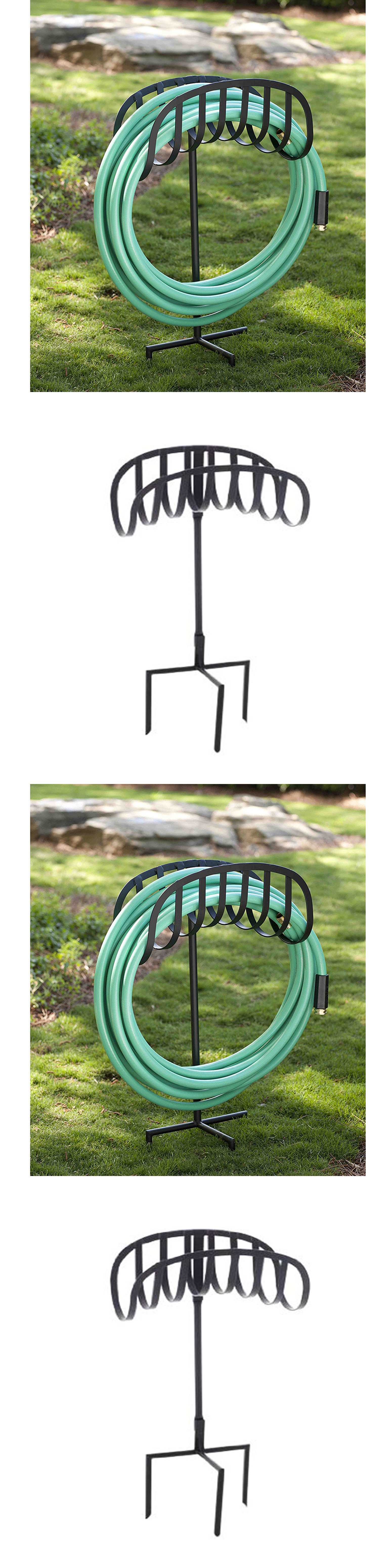 Hose Reels and Storage 46435: Metal Garden Water Hose Stand Holder ...