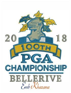 2018 pga championship bellerive logo embroidery design