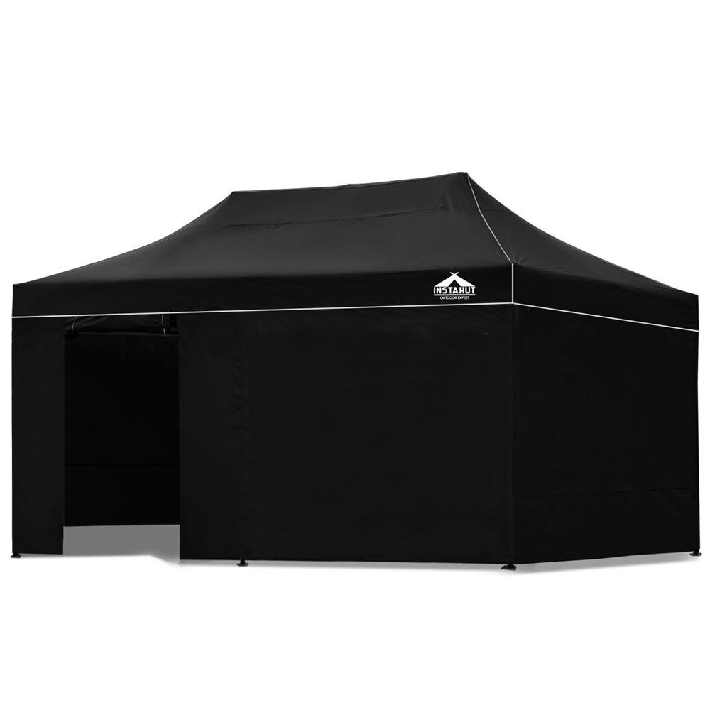 Pop Up Gazebo With Sides Sand Bags Outdoor Marquee Tent Canopy For Party Market Black 3m  sc 1 st  Pinterest & Pop Up Gazebo With Sides Sand Bags Outdoor Marquee Tent Canopy For ...