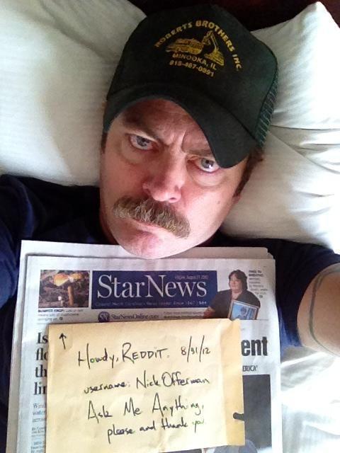 Ron Swanson   Mug Shot #pnr