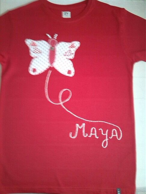 Butterfly t- shirt for girl patchwork